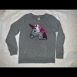 Girl's unicorn color changing sequins sweatshirt